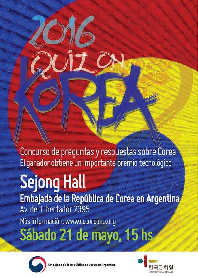 Afiche Quiz On Korea 2016